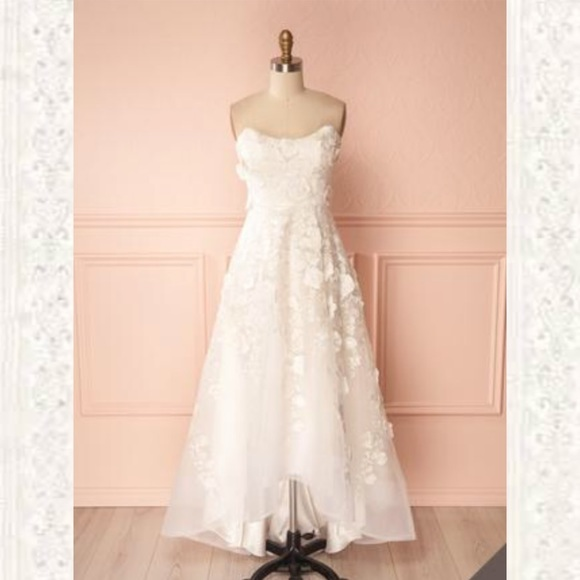 Strapless High Low Wedding Dress
